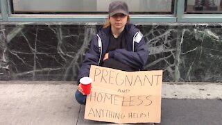 Would you help a pregnant homeless woman?
