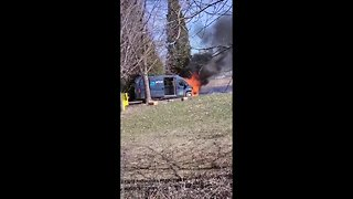 Amazon Prime delivery truck catches fire in Canton