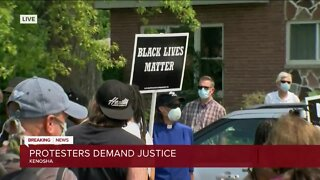Protesters demand justice after Jacob Blake was shot, injured by police