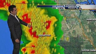 Severe thunderstorm warning in Martin County