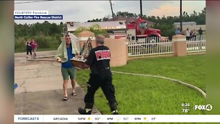 Firefighters save statue from house fire