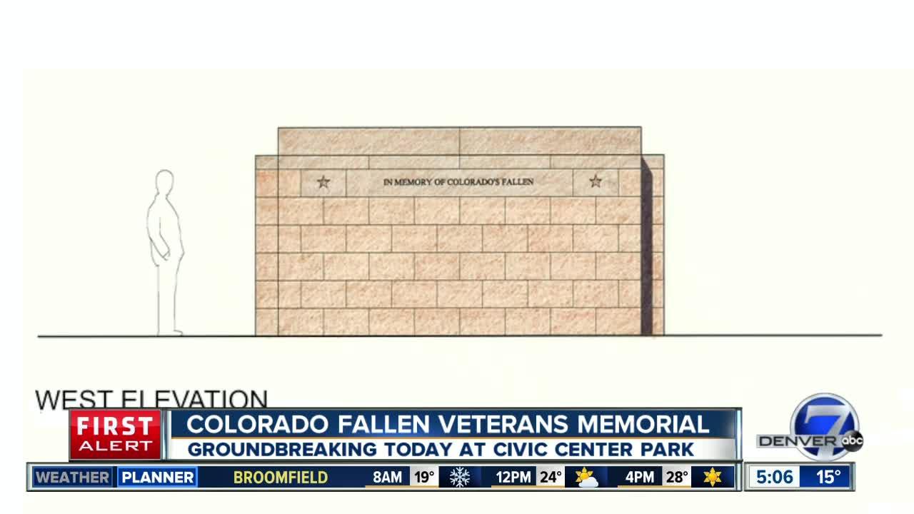 Colorado Fallen Veterans Memorial groundbreaking today