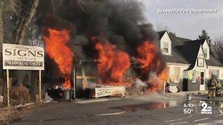 Eldersburg fire destroys business
