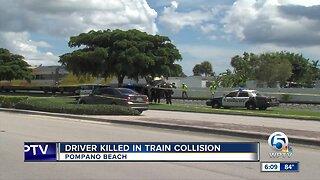Vehicle collides with train in Pompano Beach, 1 dead