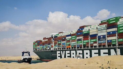 Evergreen Ship Released From Suez Canal live drive cont.