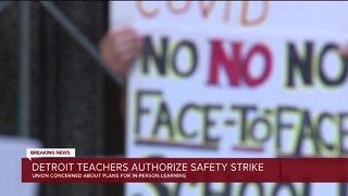 Detroit teachers authorize safety strike
