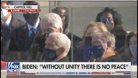 Bill Clinton Falls Asleep During Biden's Inaugural Address