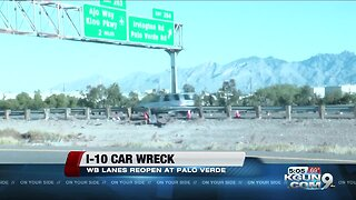 Westbound I-10 reopens at Palo Verde after injury wreck closure
