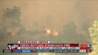 KCFD works overnight to fire Stagecoach Fire