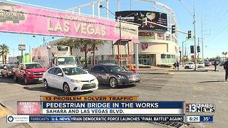 Pedestrian bridges planned for Sahara and Las Vegas Blvd.