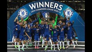 Chelsea celebration after winning champion league final 2021