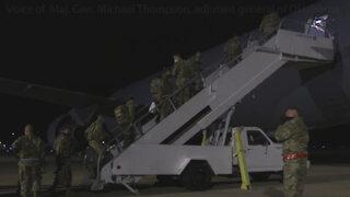 Oklahoma National Guard Soldiers depart Oklahoma