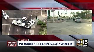 Woman dead after south Phoenix crash
