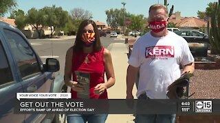 Democrats, Republicans door knock in heat to reach voters