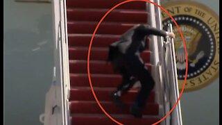 WATCH: Joe Biden FALLS While Boarding Air Force One — Internet ERUPTS
