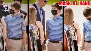 Joe Biden Hands Young Boy His Used Covid Mask
