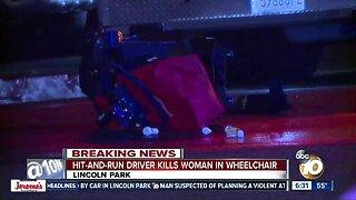 Driver hits, kills woman in motorized wheelchair