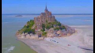Drone captures stunning footage of Mont Saint-Michel