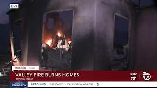 Homes destroyed as Valley Fire continues to rage