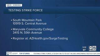 Surge testing begins Friday in Phoenix