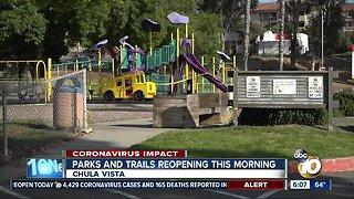 Chula Vista parks, trails reopen
