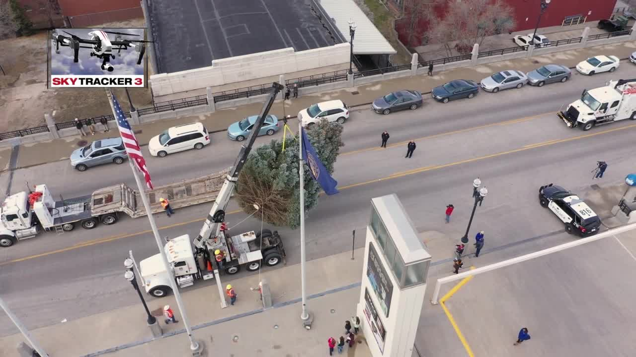 Durham Christmas Tree Drone Video