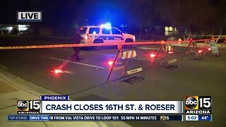 16th Street and Roeser Road closed after crash