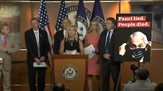 Marjorie Taylor Greene and House Republicans Discuss Fire Fauci Act - 2041