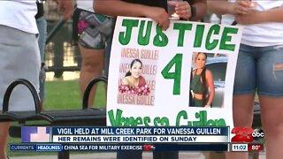 Vigil held at Mill Creek park for Vanessa Guillen on July 5th