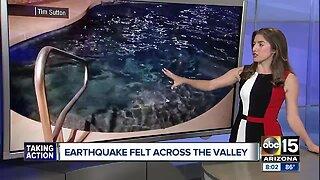 Valley residents report feeling California quake