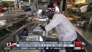 Positive numbers for November job report