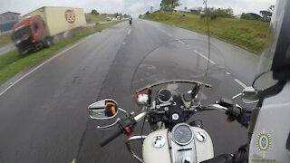 Accident truck road close call
