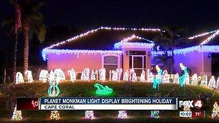 Planet Monkman light display brightening holiday