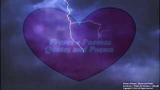 My chest in thunder day, make my love for you shine! [Poetry] [Remake] [Quotes and Poems]