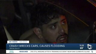 Homes, church flooded after truck hits hydrant in Spring Valley