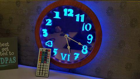 How to make an LED edge lit backwards clock