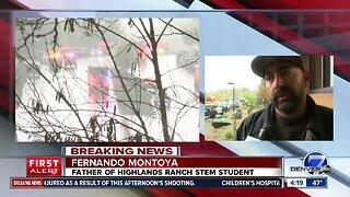 Father of student shot at STEM School Highlands Ranch speaks to Denver7