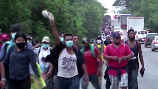 Caravan of illegal Migrants Heading to the United States Invited By Joe Biden