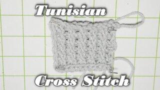 How to Crochet the Tunisian Cross Stitch