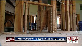 Sand Springs family works to rebuild life after flood