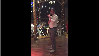 Groom Sings 'A Whole New World' To Bride At Their Wedding