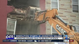 Demolition begins in Johnston Square