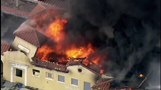 Firefighter injured battling massive fire at abandoned train station in Delray Beach