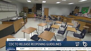 CDC to release national school reopening guidelines