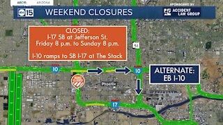 Weekend freeway closures for November 13-16