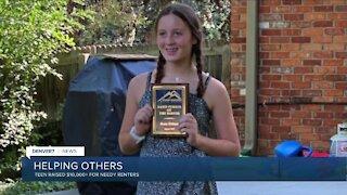 Teenager raises money to help renters