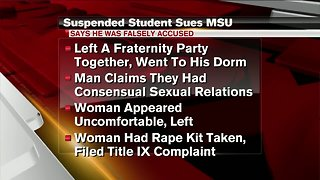 MSU student suspended for alleged rape sues university