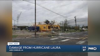 Damage from Hurricane Laura