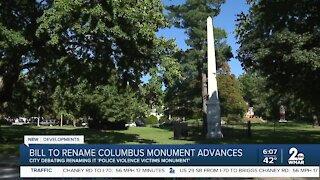 Bill to rename Columbus Monument advances