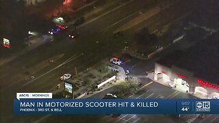 Person in motorized scooter killed during crash
